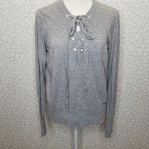 Abercrombie & Fitch Lace Up Sweater
